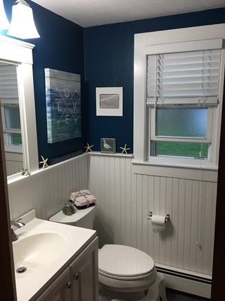 South Yarmouth Cape Cod vacation rental - Bathroom with tub and shower.