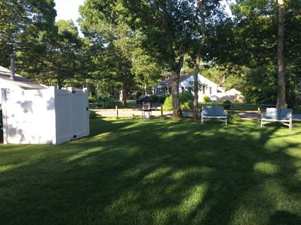 South Yarmouth Cape Cod vacation rental - Back yard of cottage perfect for yard games and relaxation!