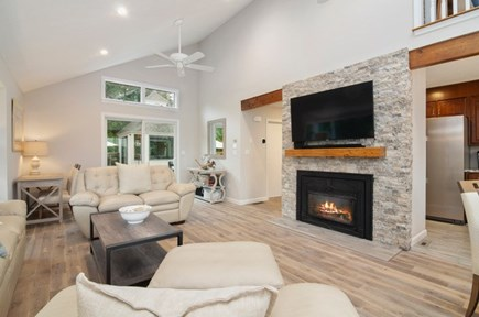 New Seabury New Seabury vacation rental - Living room with fireplace
