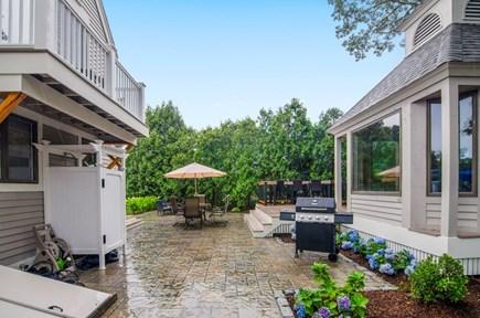 New Seabury New Seabury vacation rental - Patio, gazebo, outdoor showerBalcony overlooking back yard