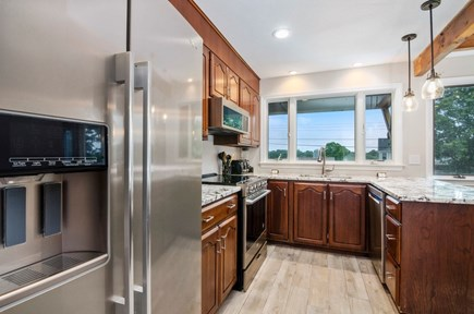Popponesset, New Seabury Cape Cod vacation rental - Kitchen with water views