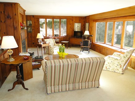 East Orleans Cape Cod vacation rental - Bright and spacious living room with flat screen TV