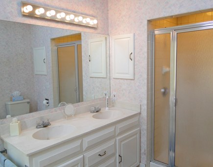 East Orleans Cape Cod vacation rental - Master bath with Jacuzzi and sky light