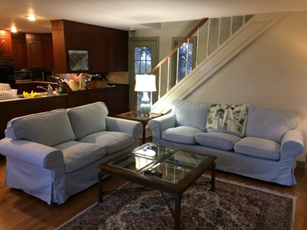 East Orleans Cape Cod vacation rental - Family room opens to kitchen, stairs to master suite