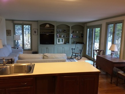 East Orleans Cape Cod vacation rental - Family room with slider to patio