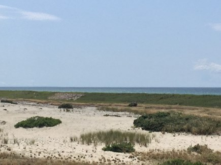 Truro Cape Cod vacation rental - View of Dunes And Bay from Beach House
