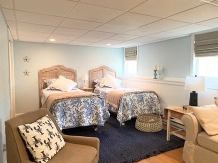 Brewster Cape Cod vacation rental - Walkout area basement bedroom with 2 twin beds, full closet