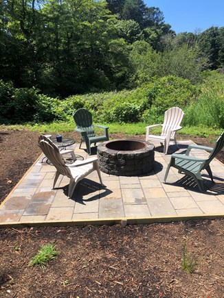 Brewster Cape Cod vacation rental - Back yard patio/fire pit