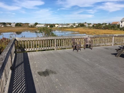 West Dennis Cape Cod vacation rental - Back deck overlooking beautiful tidal marsh & has peak at ocean.