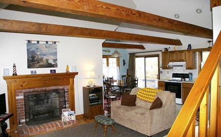 Eastham Cape Cod vacation rental - Living room (TV just out of picture on left).