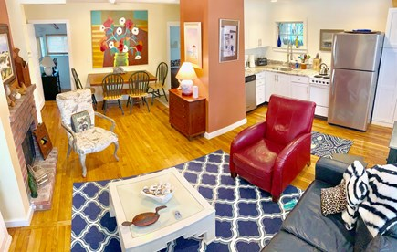 Provincetown Cape Cod vacation rental - Interior pictures of the great room + interior dining area