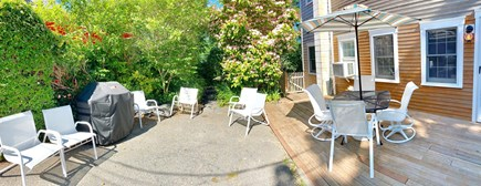 Provincetown Cape Cod vacation rental - Large outside seating areas - back