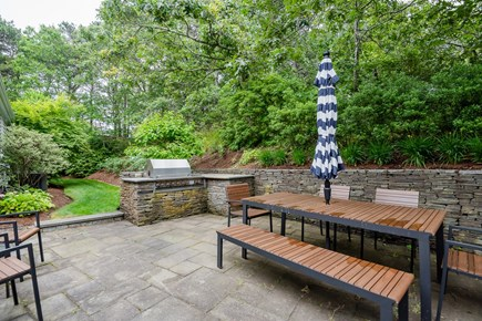 North Chatham Cape Cod vacation rental - Stone patio makes excellent outdoor living space