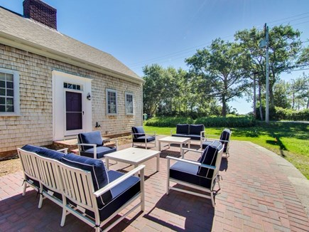 North Chatham Cape Cod vacation rental - Loads of living space, outside and in.  Note the fire pit.
