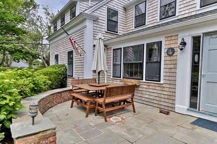 Chatham Cape Cod vacation rental - Large patio overlooking the front lawn. Plenty for 8+ people.
