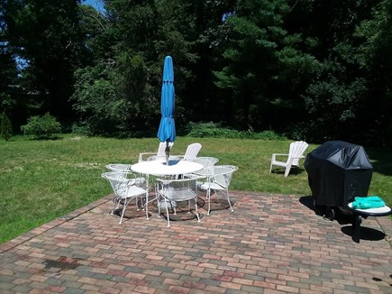 Dennis Cape Cod vacation rental - Great yard with patio and outdoor dining