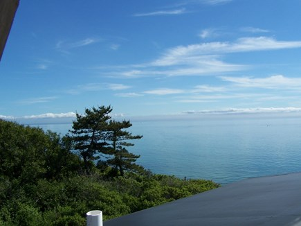 Truro Cape Cod vacation rental - Section of sweeping, unobstructed view from loft bedroom in barn