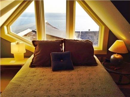 Truro Cape Cod vacation rental - Loft bed looks out over water