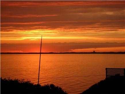 Truro Cape Cod vacation rental - Sunset from deck