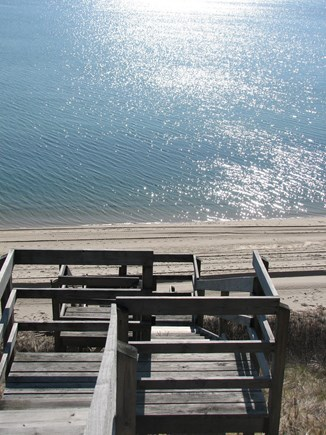 Truro Cape Cod vacation rental - Our beachstairs to our private beach