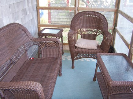 Truro Cape Cod vacation rental - Screened in porch—perfect shady reading spot