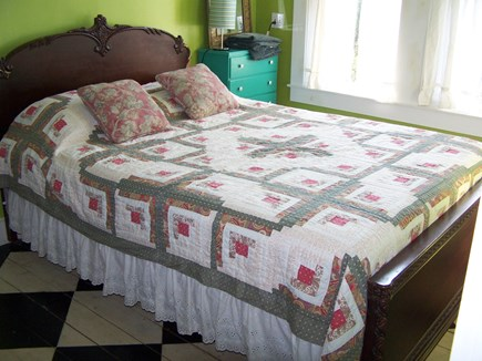 Truro Cape Cod vacation rental - 2nd floor bedroom, stenciled floors, old fisherman's cottage