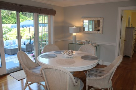 North Chatham Cape Cod vacation rental - Dining area leads directly to patio