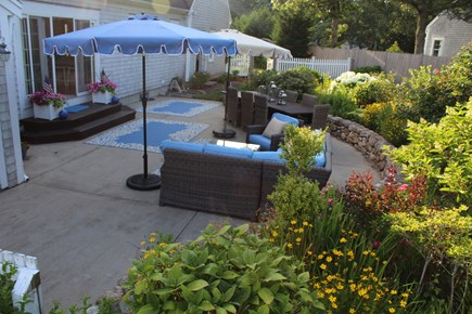 North Chatham Cape Cod vacation rental - Large patio for entertaining. Outdoor speakers, new Weber grill