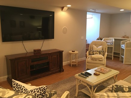 North Chatham Cape Cod vacation rental - TV in basement