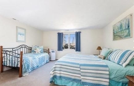 South Yarmouth Cape Cod vacation rental - Bedroom (attached in-law, California King, AC unit & twin daybed)