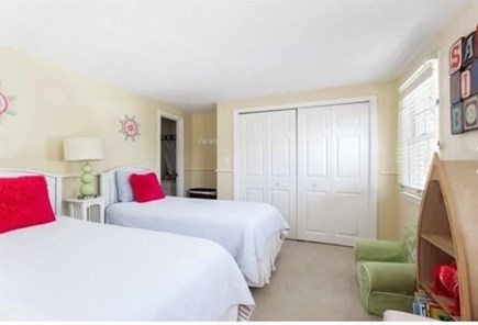 South Yarmouth Cape Cod vacation rental - Guest bedroom (main house - 2 twin beds and AC unit)