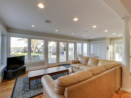 Eastham Cape Cod vacation rental - TV lounge with water view in the Capt. Heman House