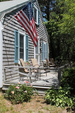 Eastham Cape Cod vacation rental - Morning sunshine on the front deck
