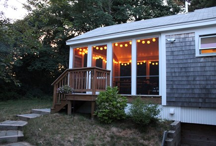 Eastham Cape Cod vacation rental - Enjoy the evening on the back porch