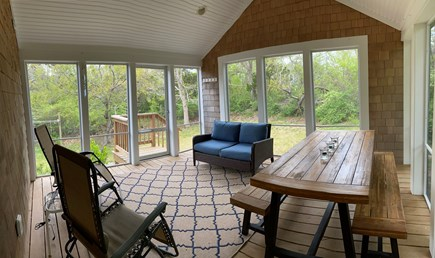 Eastham Cape Cod vacation rental - Screened porch in quiet back yard