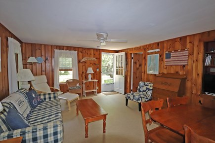 Eastham Cape Cod vacation rental - Knotty Pine Living room