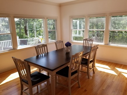 Mashpee, New Seabury area Cape Cod vacation rental - Kitchen eating area with large table and lots of sun and views