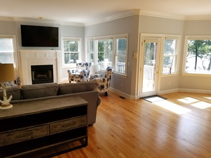 Mashpee, New Seabury area Cape Cod vacation rental - First floor nook off kitchen and family areas. Access to the deck