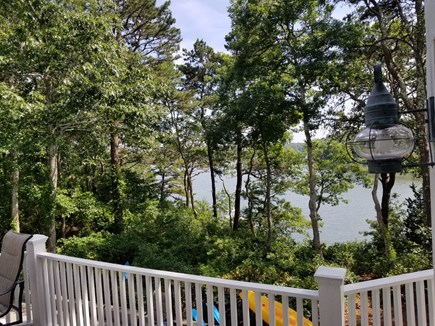 Mashpee, New Seabury area Cape Cod vacation rental - Beautiful Ockway Bay views over the pool from the deck