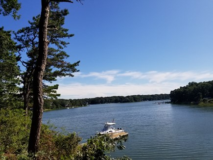 New Seabury area Cape Cod vacation rental - View overlooking dock and Ockway Bay