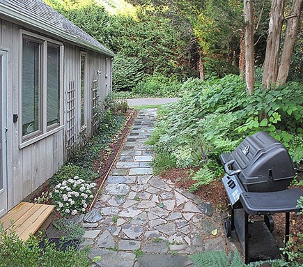 East Orleans Cape Cod vacation rental - Slate 'n Stone Walkway, Gas Grill/Patio, Via Adjacent Driveway,