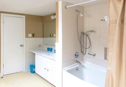 East Orleans Cape Cod vacation rental - Master Bath (2nd Flr.)  Tub/Shower, En-Suite To Both Bedrooms.