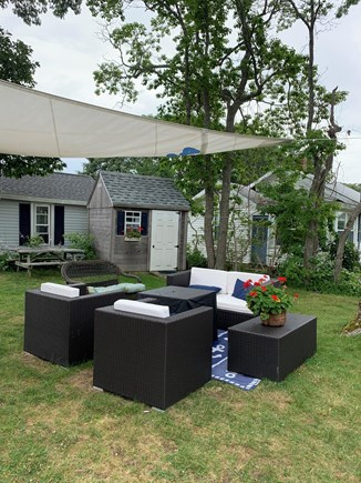 Falmouth, New Silver Beach Cape Cod vacation rental - Outdoor living room and fire pit