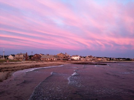 Falmouth, New Silver Beach Cape Cod vacation rental - New Silver Beach at sunset (less than .4 mile from home)