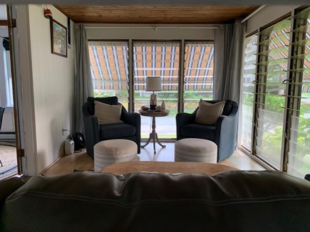 Falmouth, New Silver Beach Cape Cod vacation rental - 3 season porch!  Our favorite room of the house!