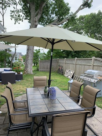 Falmouth, New Silver Beach Cape Cod vacation rental - Out door dining and grill space