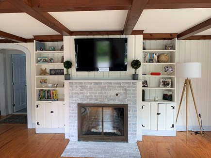 Falmouth, New Silver Beach Cape Cod vacation rental - Open living space loaded with great beach reads and board games