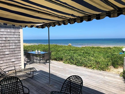 East Dennis, Walking distance  Cape Cod vacation rental - Deck with awning for shade