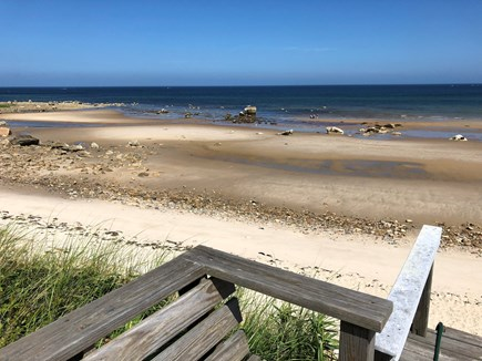 East Dennis, Walking distance  Cape Cod vacation rental - View from top of beach steps with views of our private beach.