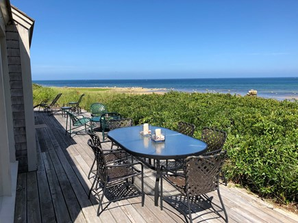 East Dennis, Walking distance  Cape Cod vacation rental - Enjoy having meals on the deck with beautiful views.